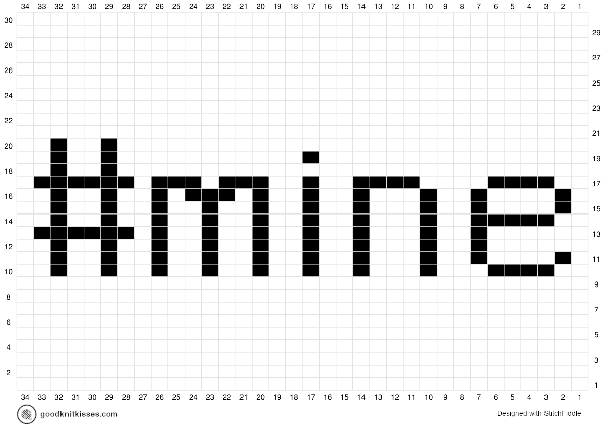 #mine duplicate stitch charts