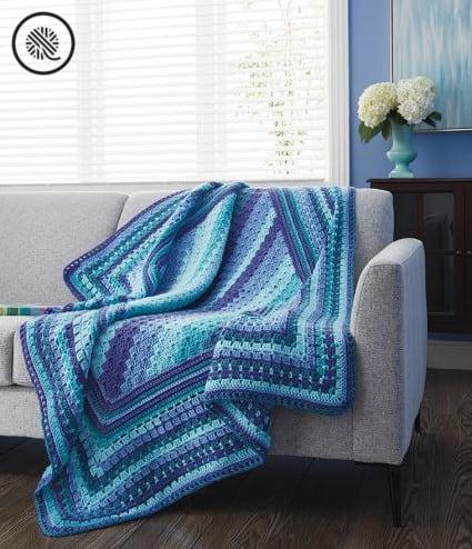 Crafty Gift Ideas Crochet Blue Afghan
