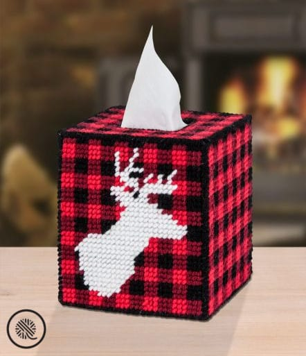 Crafty Gift Ideas Stag Head Tissue Box Cover