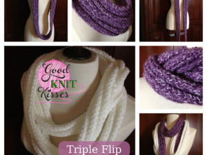 Loom Knit Triple Flip Scarf