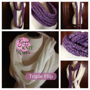 loom knit triple flip