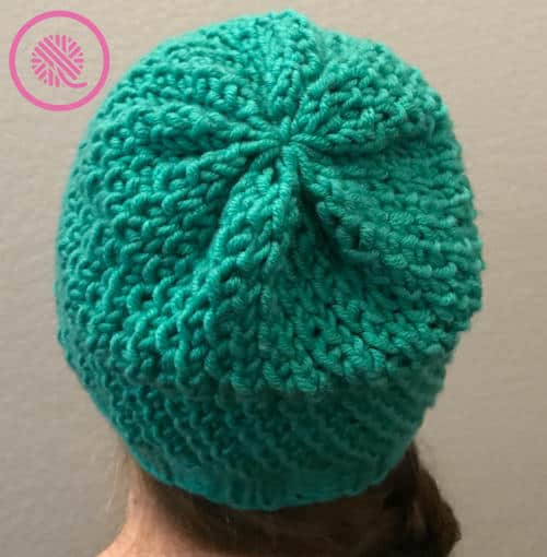loom knit seagrass slouchy hat crown