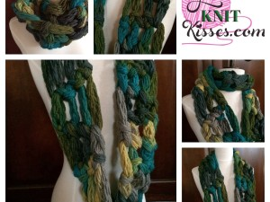 Easy Crochet Along Cowl with your Hand or Finger