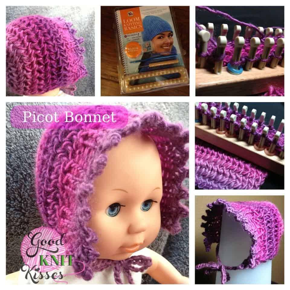 Picot Layette Bonnet