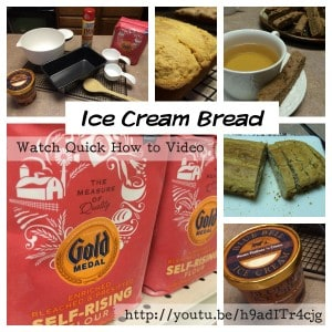 baking video tutorials - ice cream bread