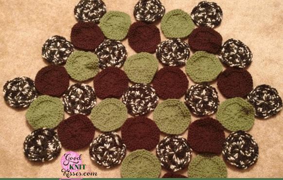 granny round layout blanket