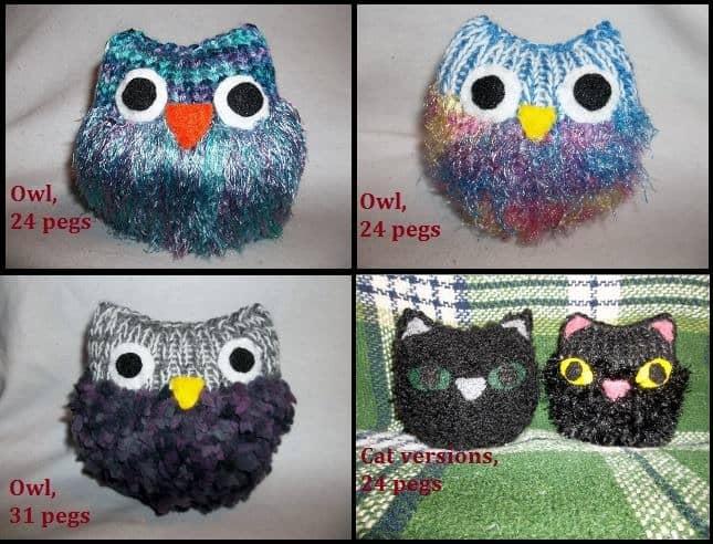 Loom Knit Owl – free pattern