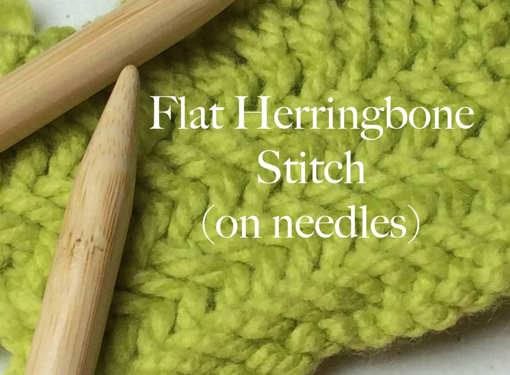 Herringbone Stitch for Knitters