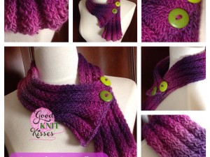 Loom Knit Simple Scarflet