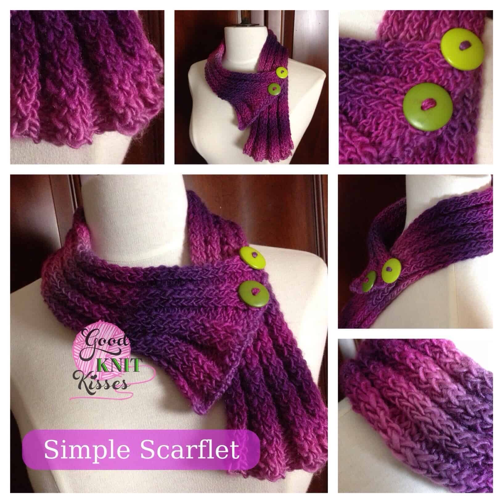 Loom Knit Simple Scarflet