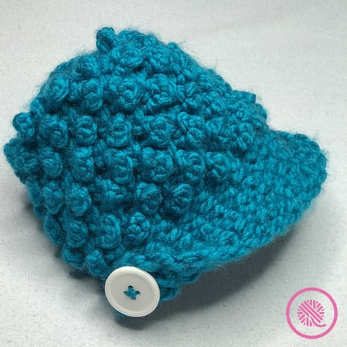 baby bobble button newsboy hat