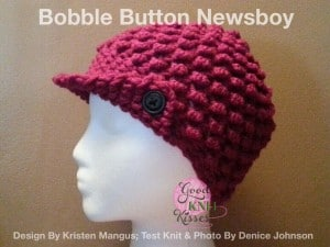 Bobble Button Newsboy | Loom Pattern