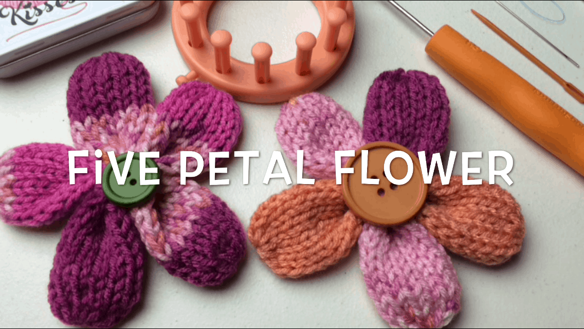 Five Petal Flower Loom Knit Pattern Goodknit Kisses