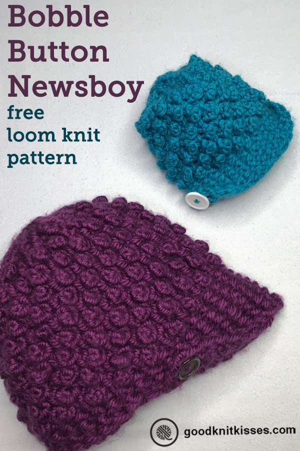 bobble button newsboy hat pin image