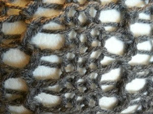 Cluster Lace Reversed | Loom Knit