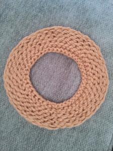 Loom knit Cowboy hat brim by Denice Johnson