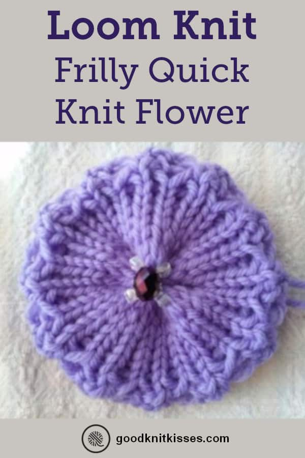 Frilly Quick Knit Flower Pin image