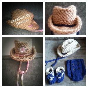 Loom Knit Cowboy Hat