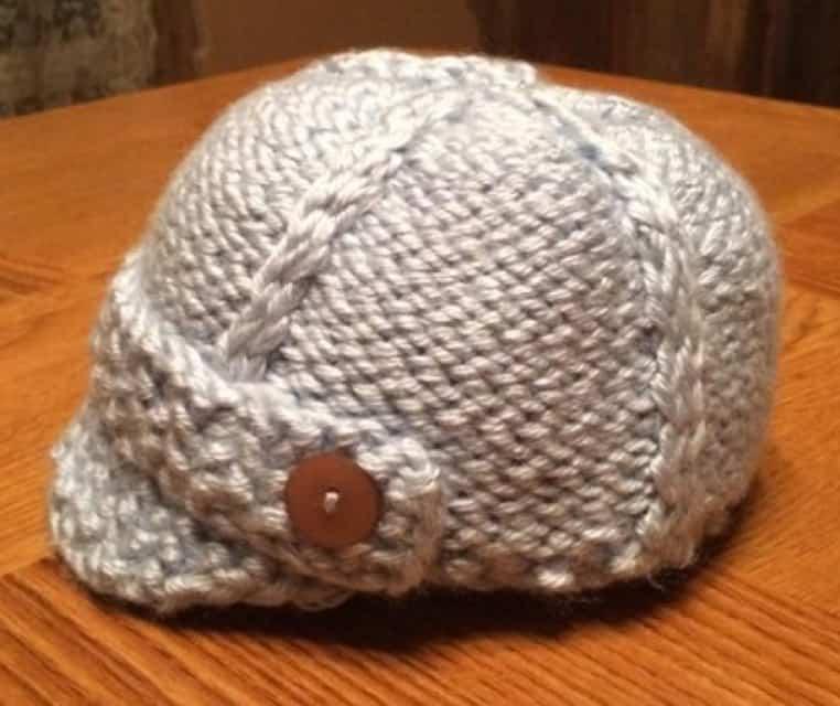 Zeppelins Newsboy Cap   Loom Knit