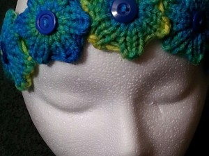 Quick Knit Flower Headband