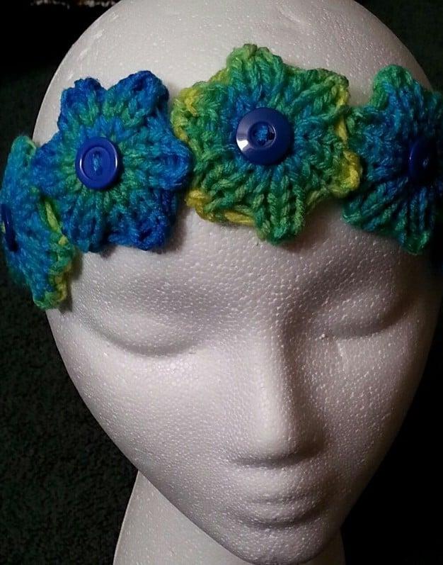 Quick Knit Flower Headband