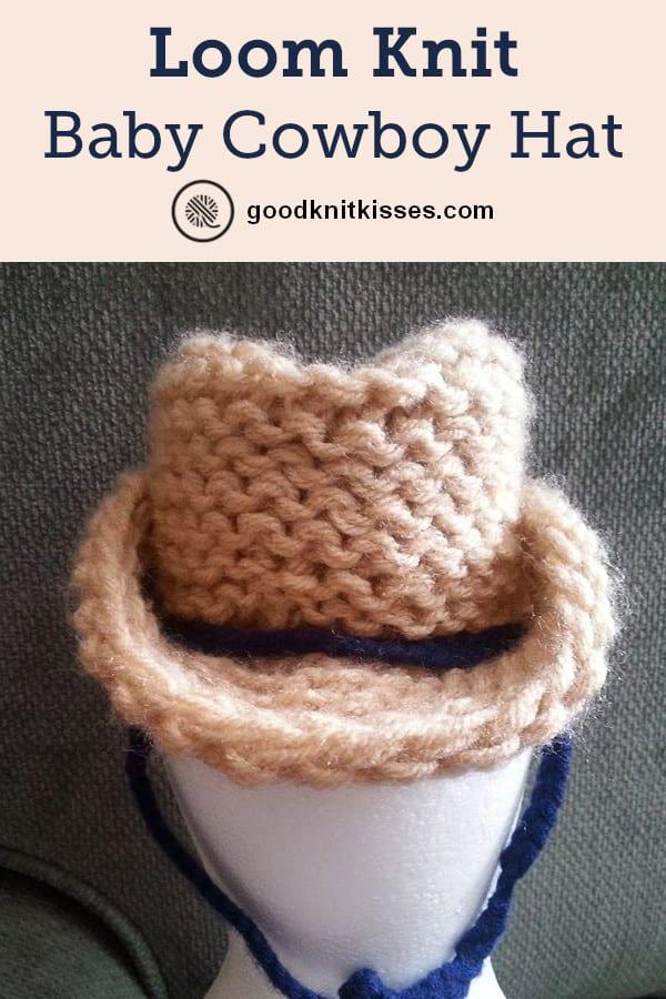 Loom Knit Cowboy Hat Pin image
