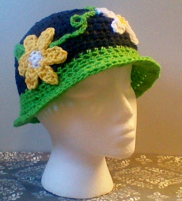 Daisy Chains and Laughs Beanie | Crochet