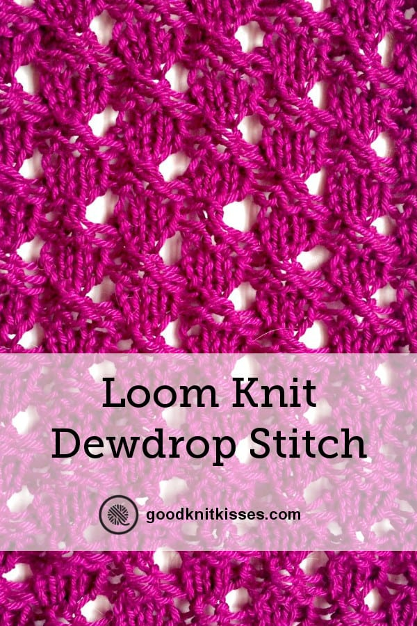 Dewdrop Stitch variation Pin Image closeup