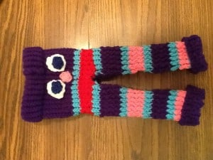 Loom Knit Baby Monster Pants