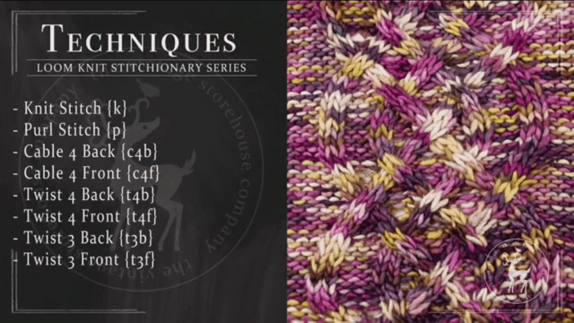 Celtic Knot Stitch Pattern | Loom Knit