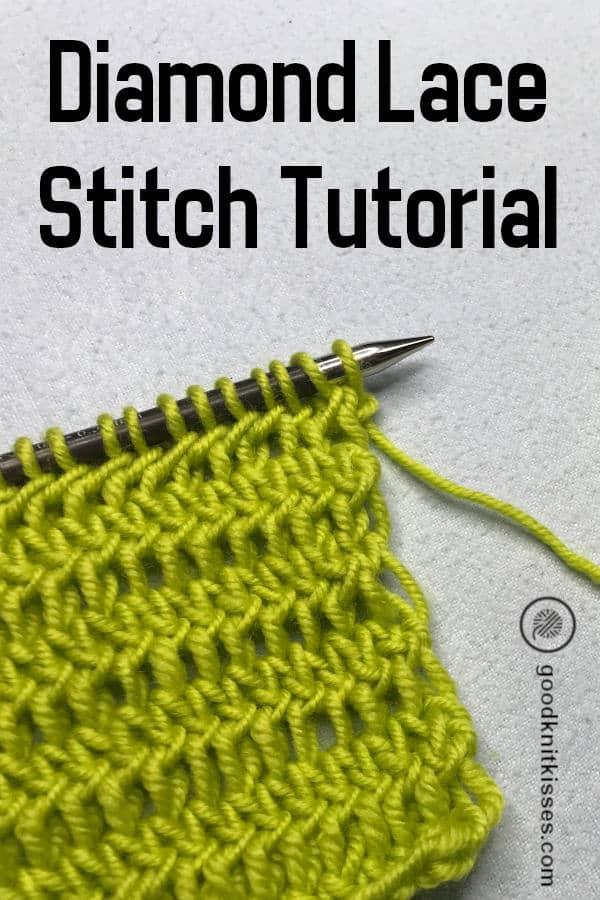 Diamond Lace Stitch PIN image