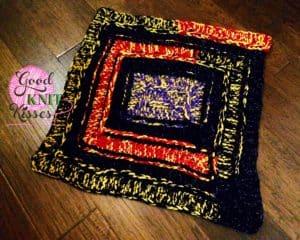 loom knit five stitch blanket