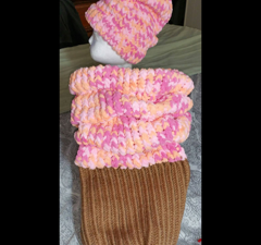 Ice Cream Cone Cocoon | Loom Knit
