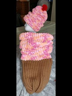 Ice Cream Cone Cocoon | Loom Knit
