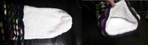 Loom Knit Mermaid Tail Blanket liner