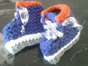 Loom Knit Ice Skate Baby Booties