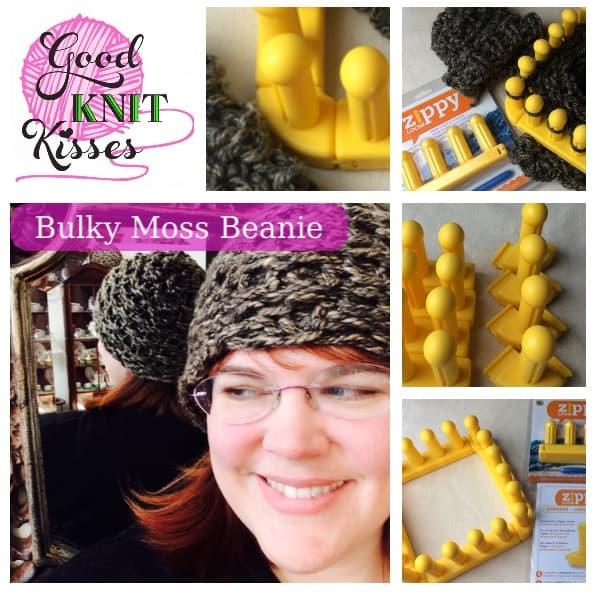 Zippy loom hat Bulky Moss Beanie by Kristen Mangus