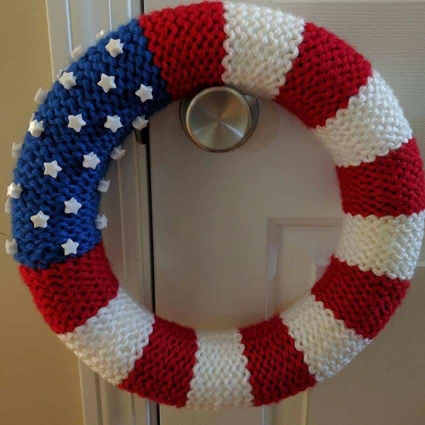 American Flag Wreath