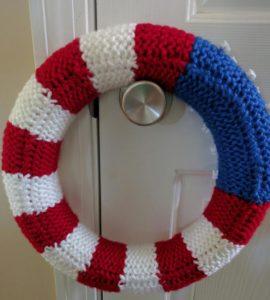 Back of American Flag Wreath