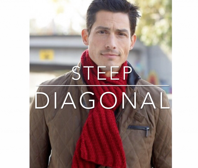 Steep Diagonal Men's Scarf