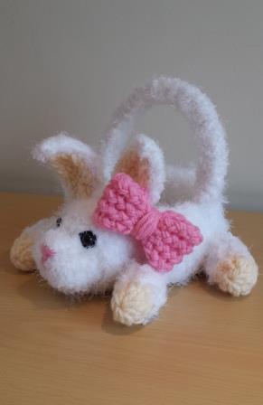 Bunny Easter Basket Loom Knit