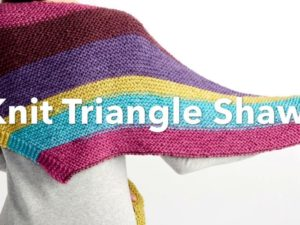 Bernat Pop! Knit Triangle Shawl | Yarnspirations