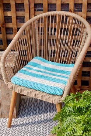 Loom Knit Seat Cushion