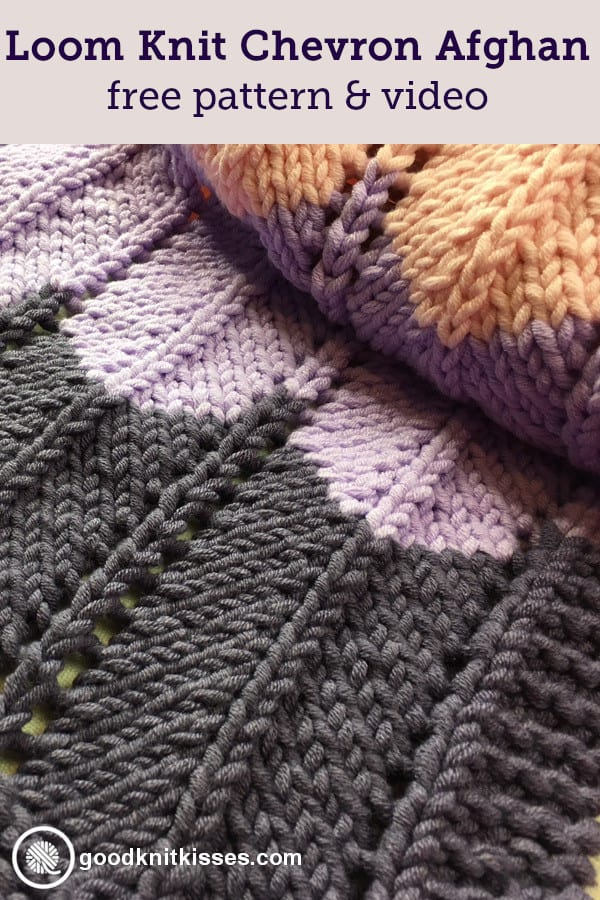 Loom Knit Ripple and Ridge Afghan PIN Image