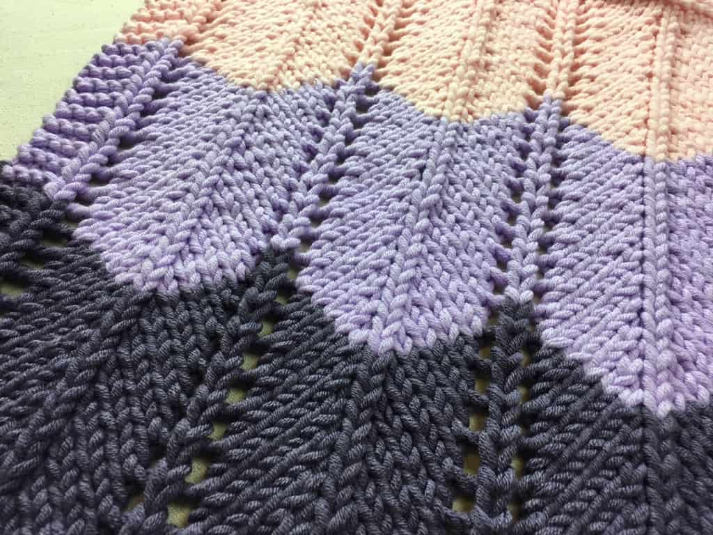 Loom Knit Ripple and Ridge Afghan   How to Loom Knit Chevrons