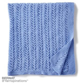 feather lace stitch lacy baby blanket image