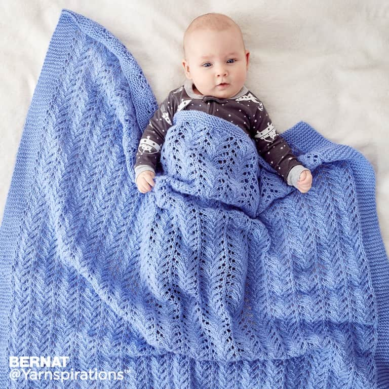 lacy baby blanket image