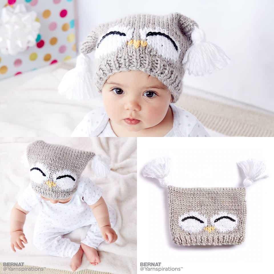 Knit Owl Hat | Yarnspirations
