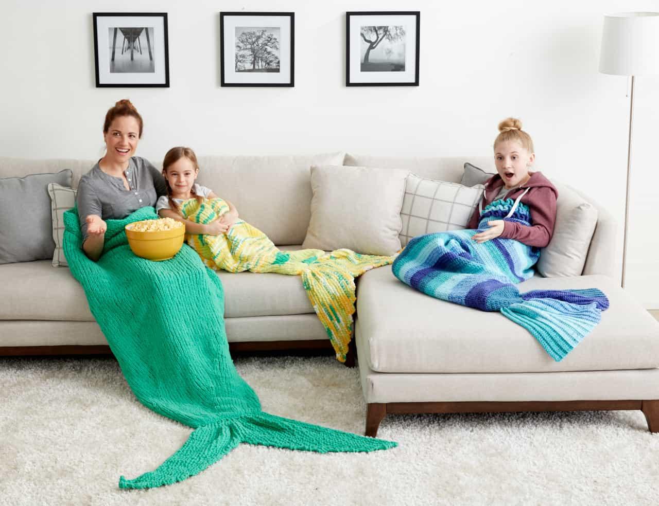 Mermaid Tail Snuggle Sack | Yarnspirations
