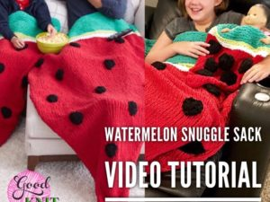 Watermelon Snuggle Sack | Yarnspirations
